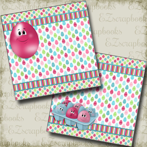 Crazy Eggs NPM - 3737 - EZscrapbooks Scrapbook Layouts Spring - Easter