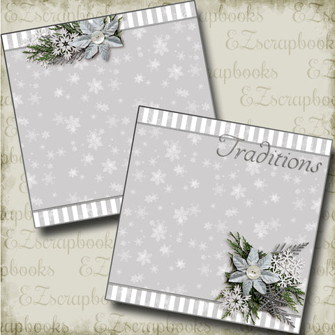 Traditions NPM - 3585 - EZscrapbooks Scrapbook Layouts Christmas, New Year's