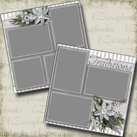 Traditions - 3584 - EZscrapbooks Scrapbook Layouts Christmas, New Year's