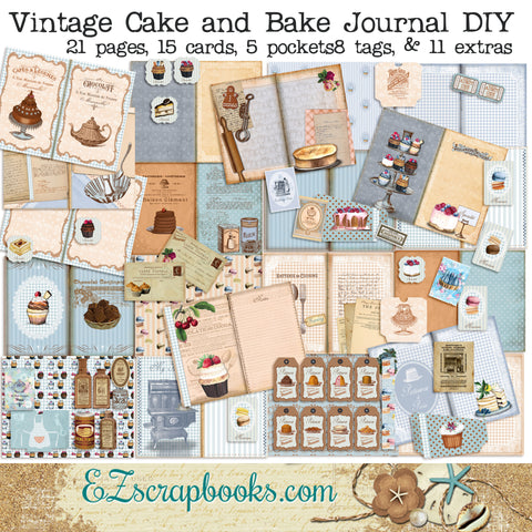Vintage Cake & Bake Journal - 7166
