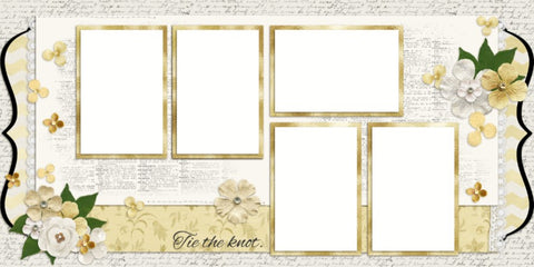The Wedding - One - Digital Scrapbook Pages - INSTANT DOWNLOAD