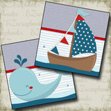 Sails & Whales NPM - 2421 - EZscrapbooks Scrapbook Layouts Beach - Tropical, cruise