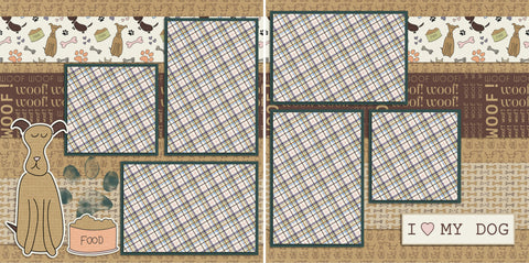 Woof - 105 - EZscrapbooks Scrapbook Layouts Family, Pets, Summer