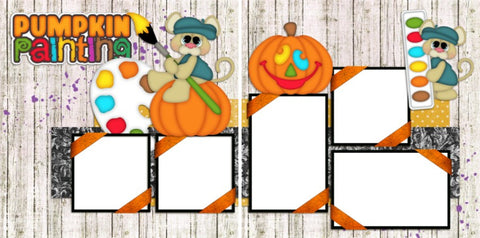 Pumpkin Painting - Digital Scrapbook Pages - INSTANT DOWNLOAD