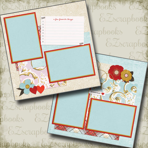 Favorite Things - 4954 - EZscrapbooks Scrapbook Layouts Girls, Love - Valentine, Other