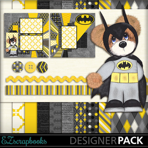 BatBear Tear Bear Digital Kit - INSTANT DOWNLOAD