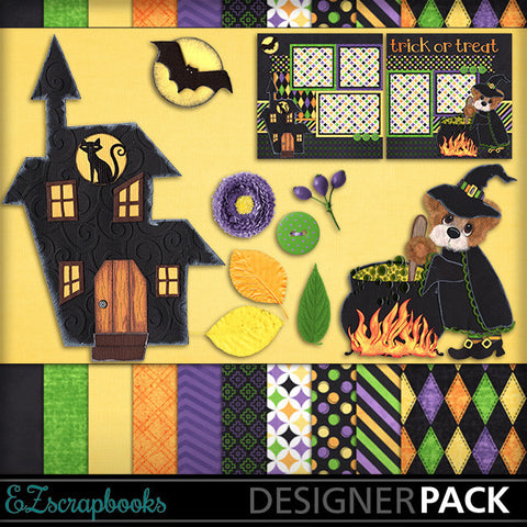 Witches Brew Tear Bear Digital Kit - INSTANT DOWNLOAD