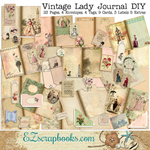 Vintage Lady Journal Kit - 7108