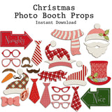 Christmas Photo Booth Props - INSTANT DOWNLOAD - EZscrapbooks Scrapbook Layouts
