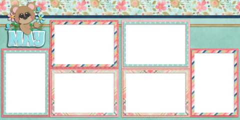 May - Digital Scrapbook Pages - INSTANT DOWNLOAD