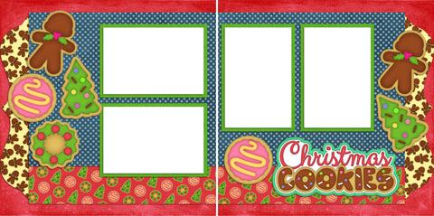 Christmas Cookies - Digital Scrapbook Pages - INSTANT DOWNLOAD