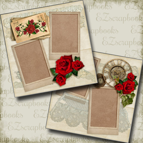 Weekend in Paris - 4968 - EZscrapbooks Scrapbook Layouts Love - Valentine, Other