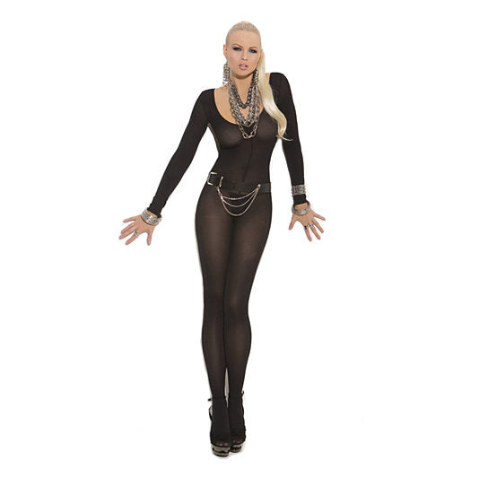 Long Sleeve Opaque Bodystocking,  - The Fallen Angel