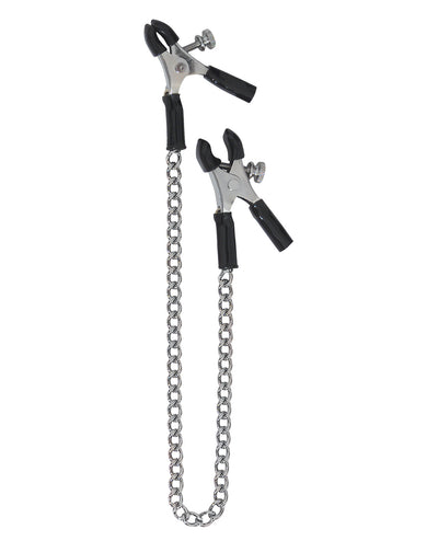 Spartacus Adjustable Micro Plier Nipple Clamps w/Link Chain