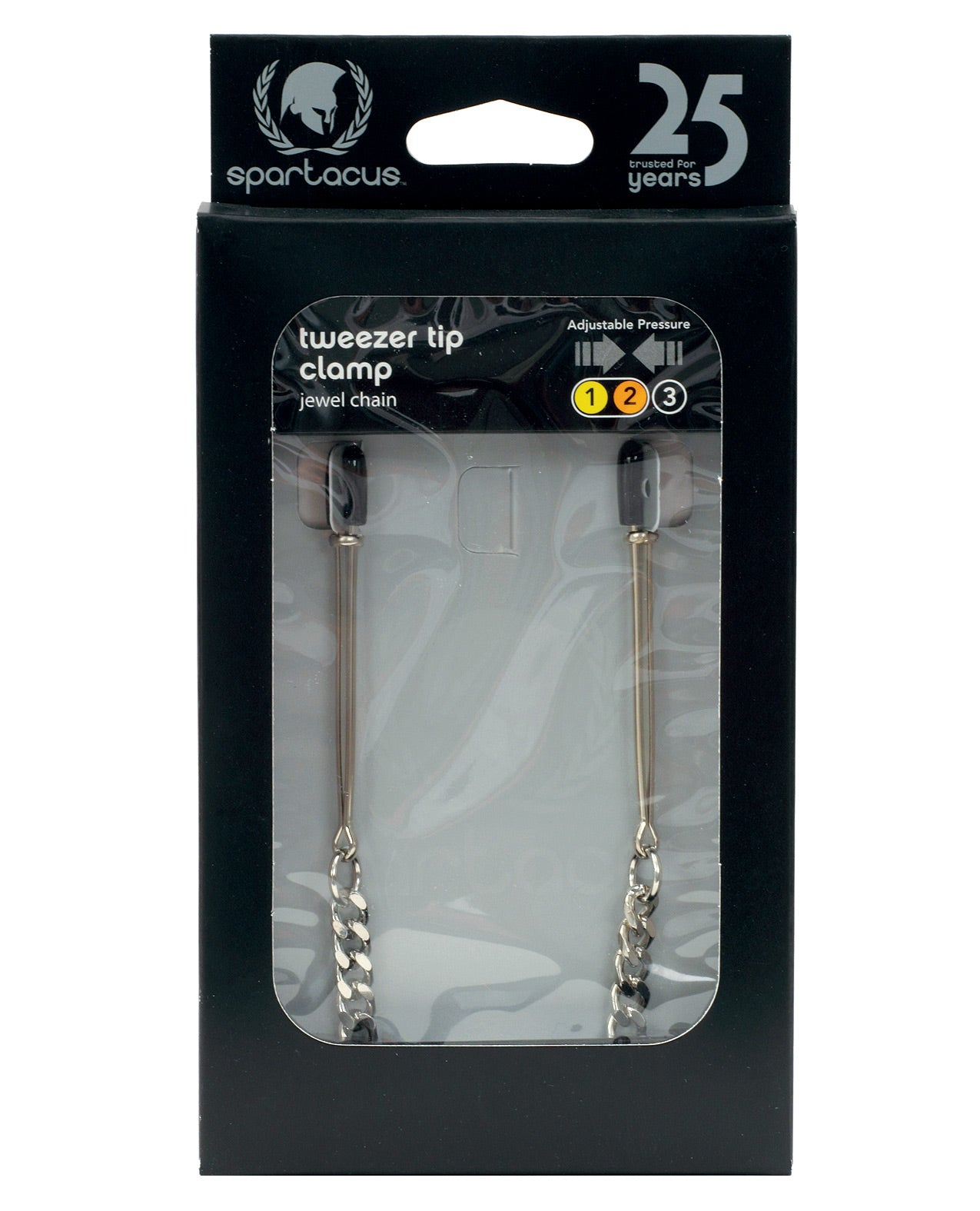 Spartacus Adjustable Tweezer Nipple Clamps w/Jewel Chain