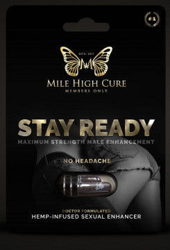 Mile High Cure - Stay Ready Hemp Infused Male Sexual Enhancer