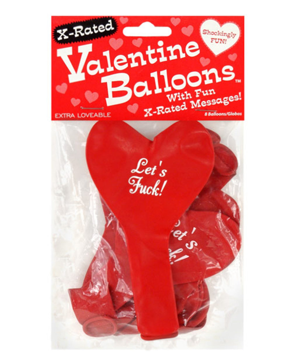 X-Rated Valentine Heart Balloons - 8 Per Pack, Holiday - The Fallen Angel
