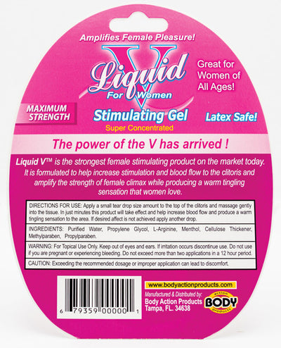 Liquid V Female Stimulant - 10 ml Bottle in Clamshell