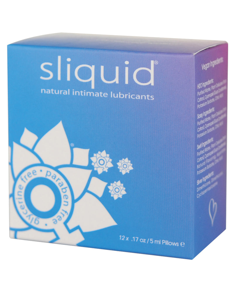 Sliquid Naturals Lube Cube - .17 oz Pillow Pack of 12