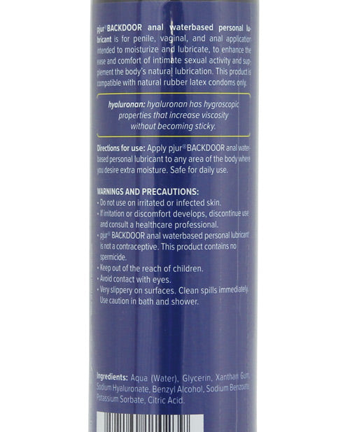 Pjur Back Door Anal Water Based Personal Lubricant  - 100 ml Bottle