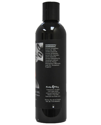 Earthly Body Hemp Edible Massage Oil - 8 oz Cherry