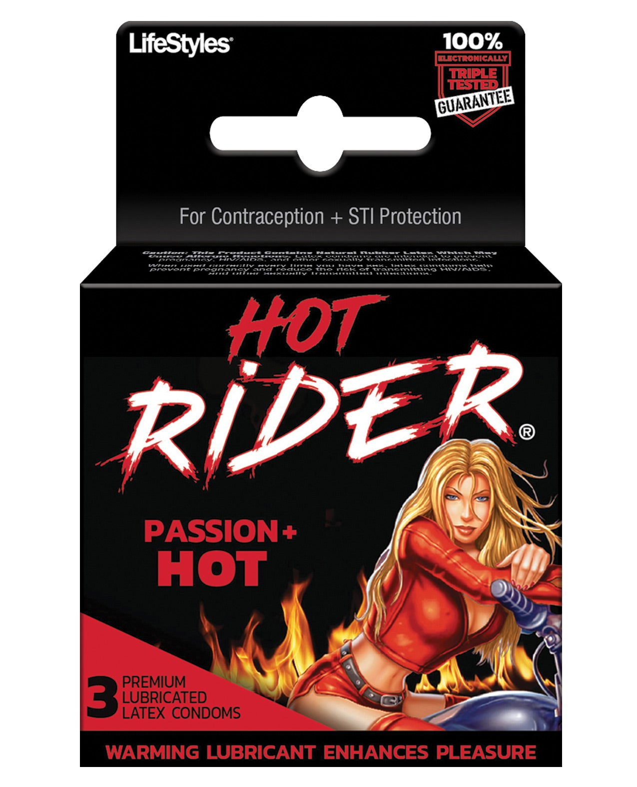 Contempo Hot Rider Hot Condom Pack - Pack of 3