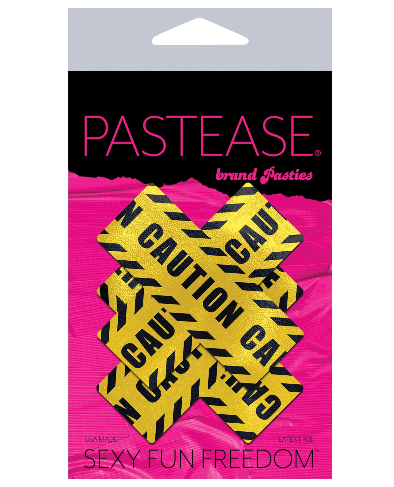 Pastease Caution Cross - Black/Yellow O/S