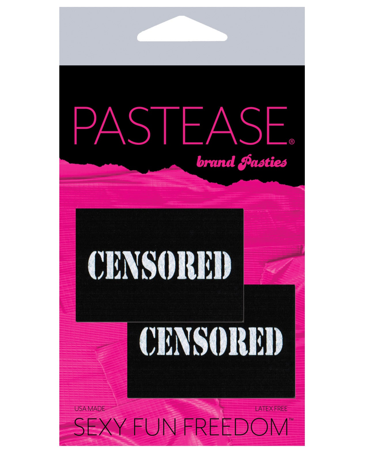Pastease Censored Pastie - Black/White O/S