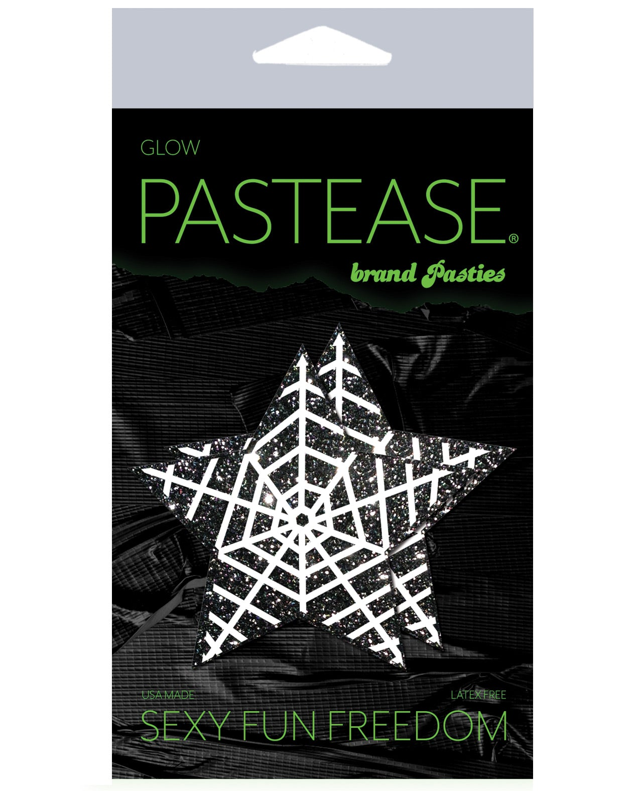 Pastease Halloween Glitter Web  - Glow in the Dark Black/White O/S