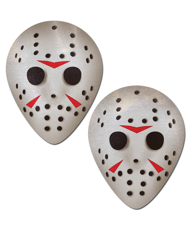 Pastease Scary Halloween Hockey Mask  - White O/S