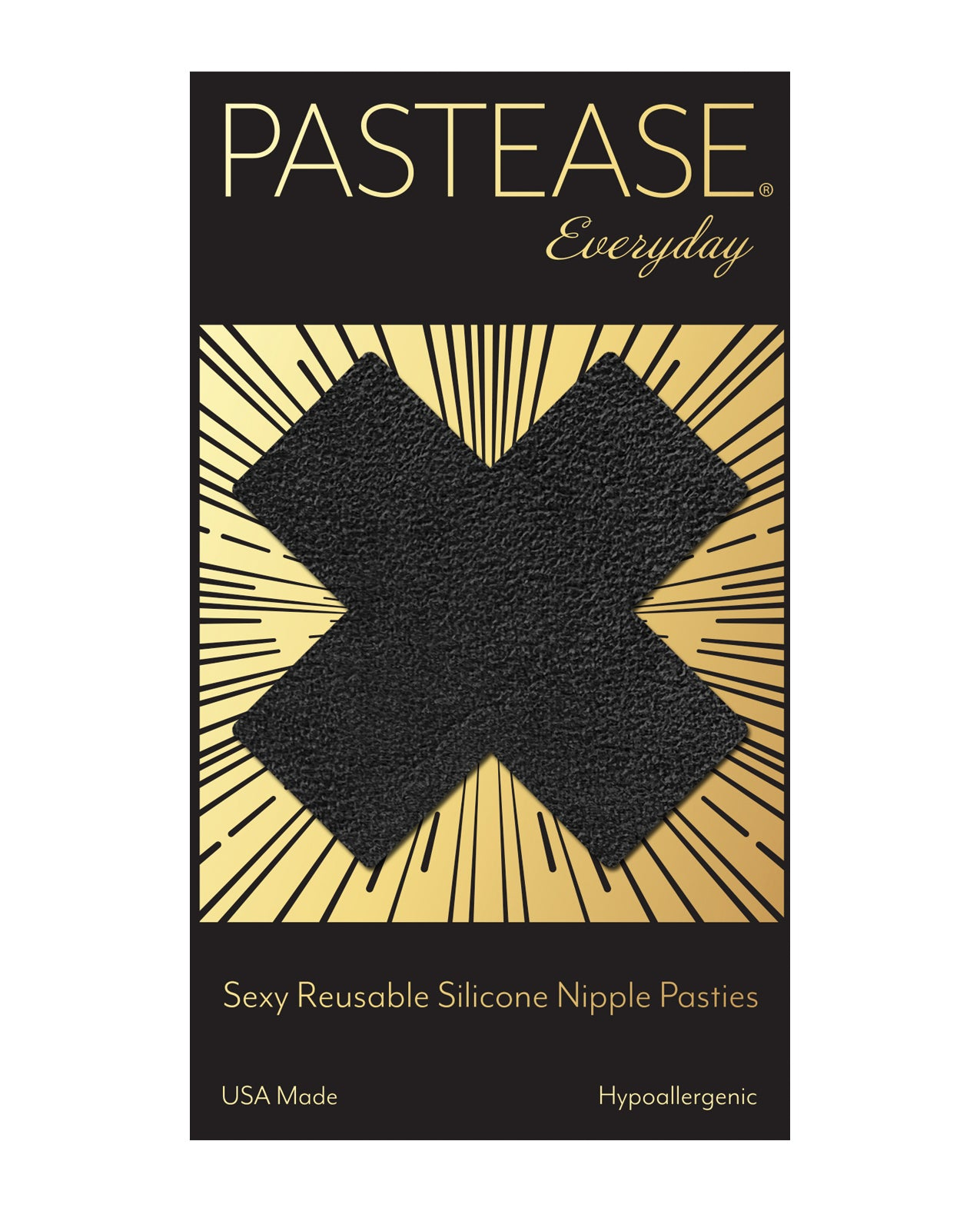 Pastease Reusable Luxury Suede Cross - Black O/S