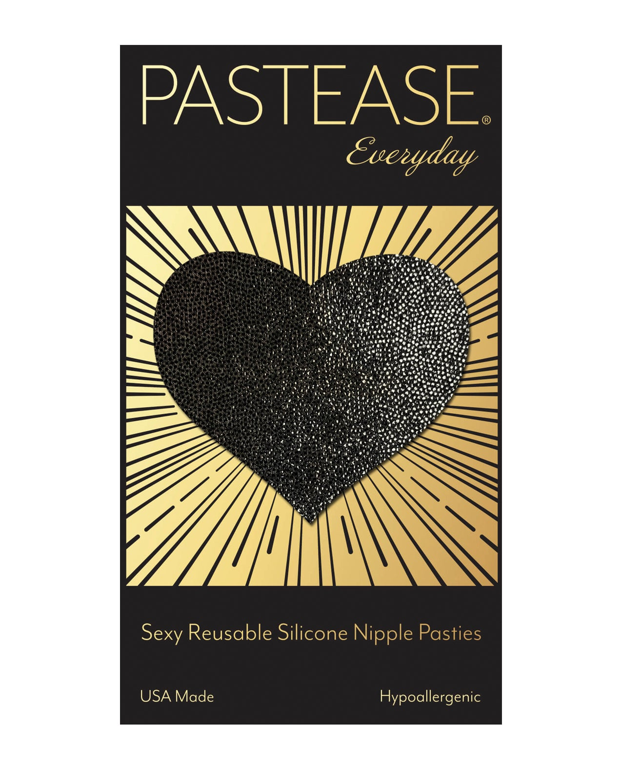 Pastease Reusable Liquid Heart - Black O/S