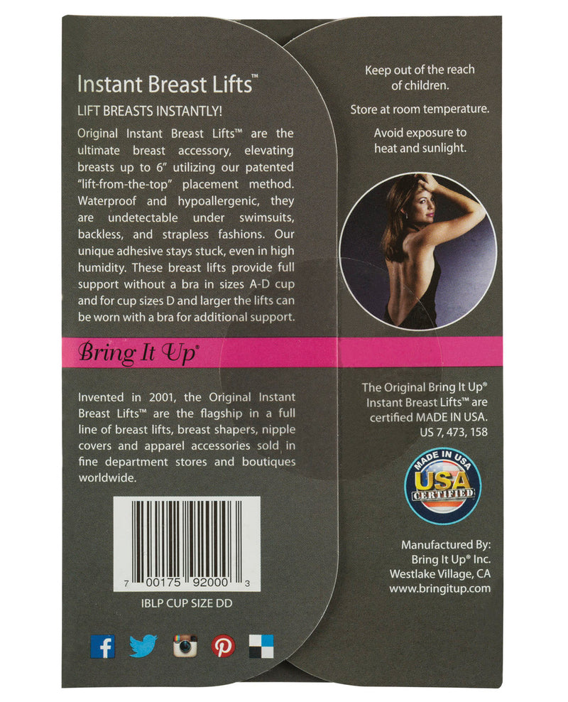 Bring it Up Plus Size Breast Lifts - D Cup & Larger Pack of 3