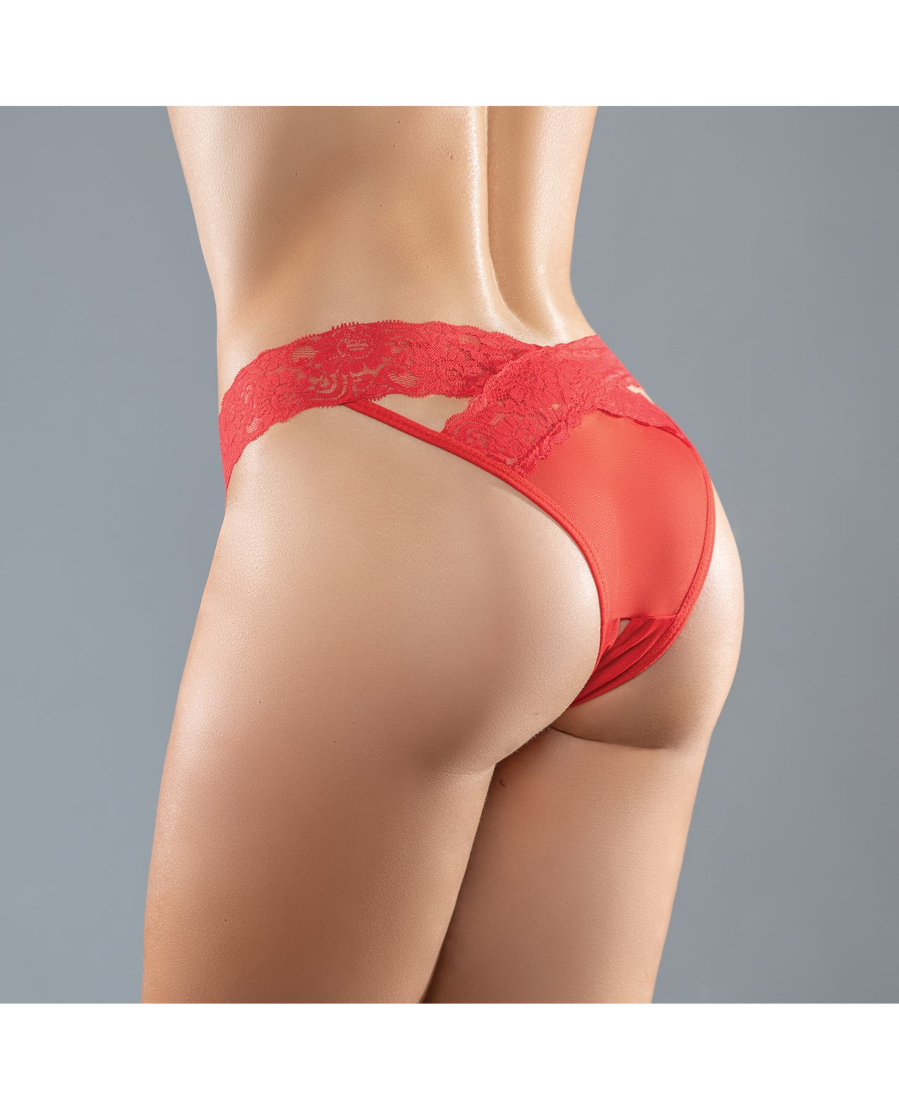 =Adore Sheer & Lace Desire Panty Red O/S