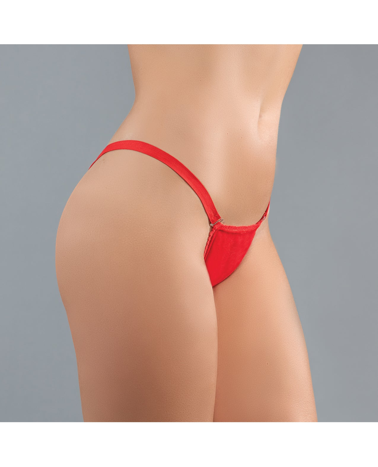Adore Between the Cheats Wetlook Panty Red O/S