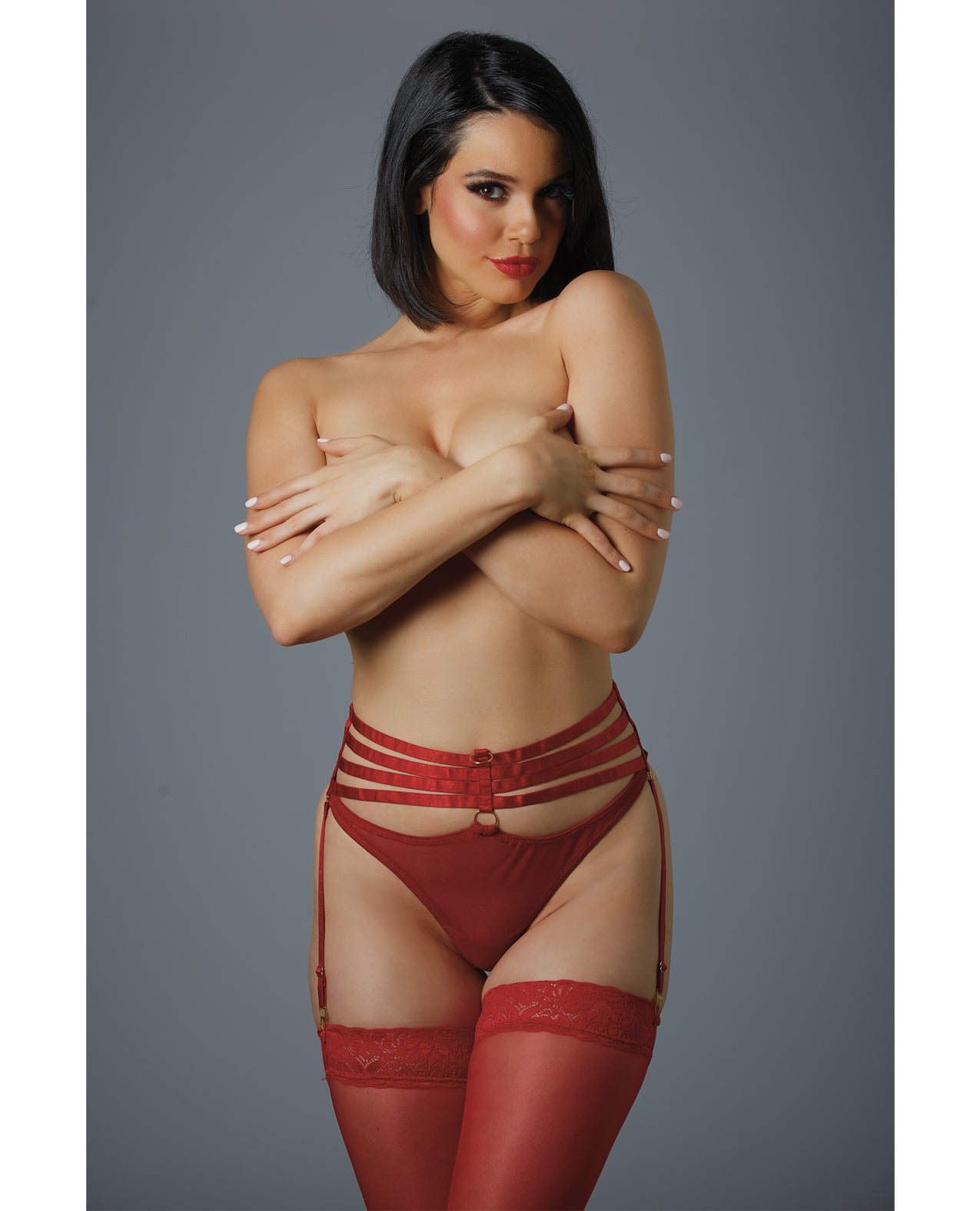 Adore 4ever Yours Garter Panty (Pasties Not Included) Red O/S