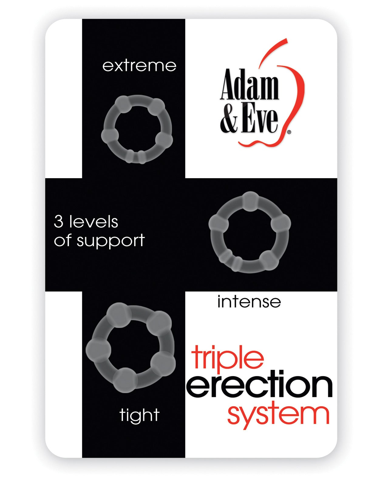 Adam & Eve Triple Erection System - Clear Pack of 3