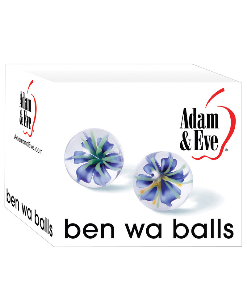 Adam & Eve Glass Ben Wa Balls - Clear