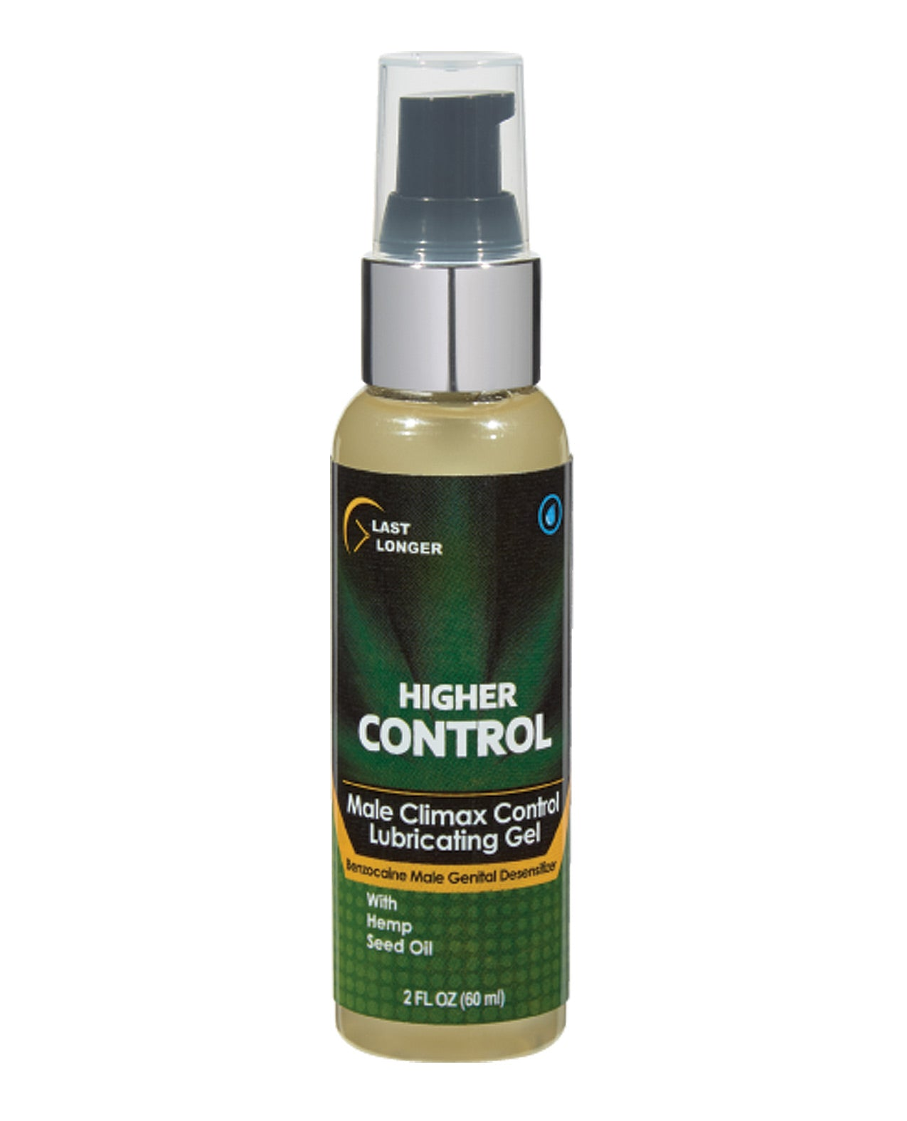 Higher Control Climax Control Gel for Men w/Hemp Seed Oil - 2 oz