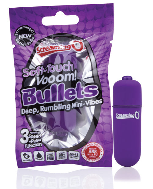 Screaming O Soft Touch Vooom Bullet - Purple, Stimulators - The Fallen Angel