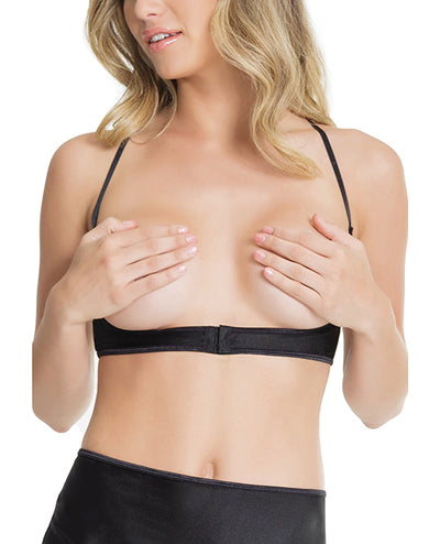 Cupless Underbust Bra w/Adjustable T-Back (Can be Worn Two Ways) - Black