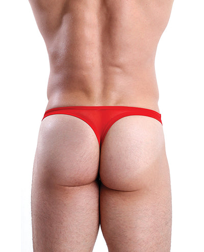 Cocksox Mesh Enhancing Pouch Thong Fiery Red MD