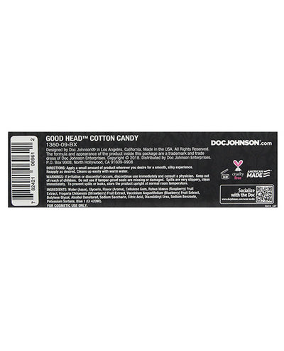 Good Head Oral Gel - 4 oz Cotton Candy