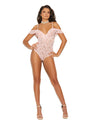 Ramona Off the Shoulder Teddy w/Underwire Cups Baby - Pink