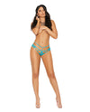 Vivace Lace Panty w/Cut Out Detailing & O Ring - Turquoise