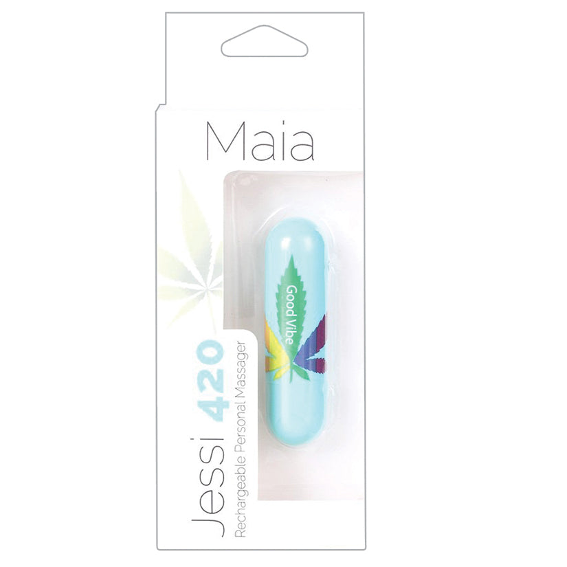 *Maia Jessi 420 Rechargeable Mini Bullet-BlueVibrators