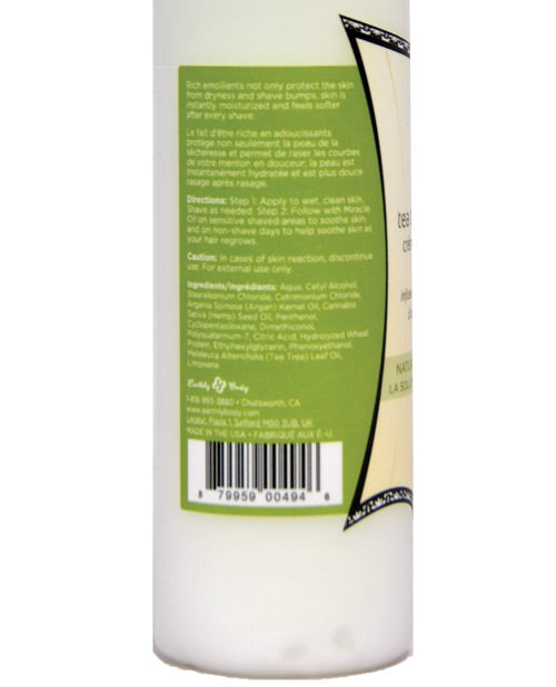 Earthly Body Miracle Oil Shave Cream - 8 oz Bottle