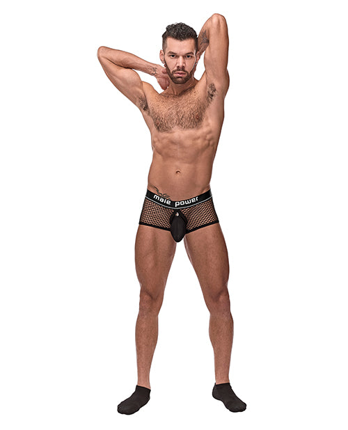 Cock Pit Fishnet Mini Cock Ring Short Black SM
