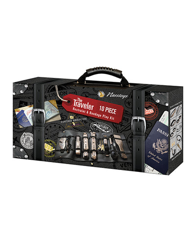 The Ultimate Fantasy Travel Briefcase Restraint & Bondage Play Kit