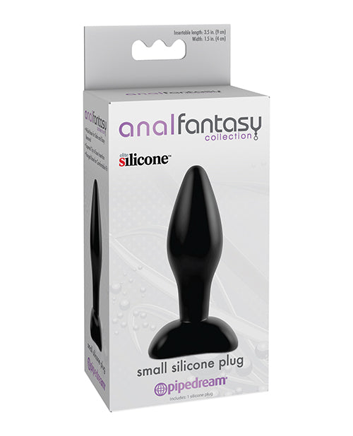 Anal Fantasy Collection Small Silicone Plug - Black, Anal Products - The Fallen Angel